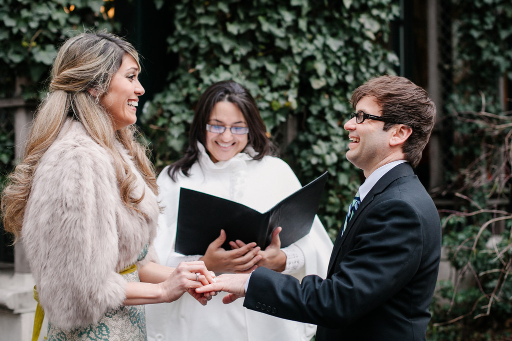 Winter Wedding in Bryant Park