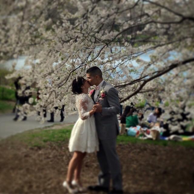 Spring Wedding in Central Park