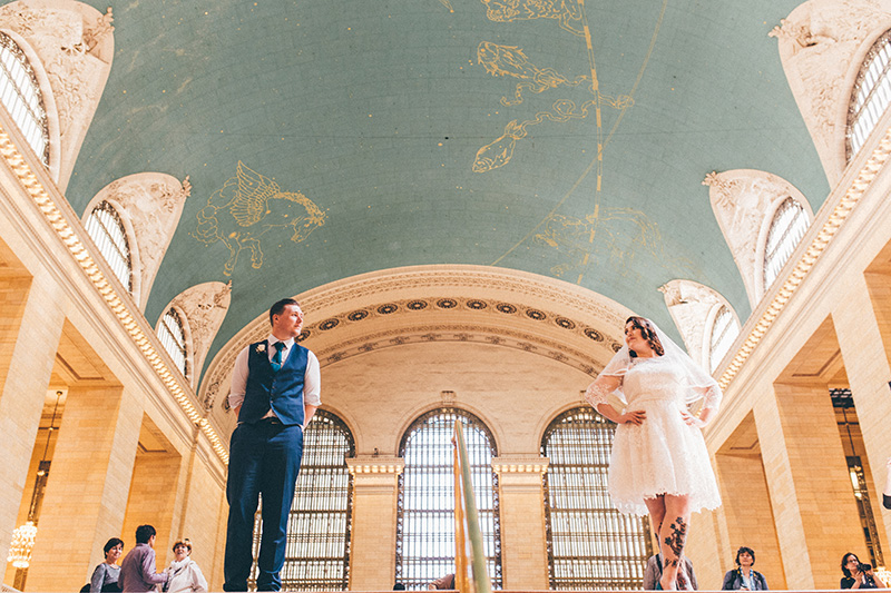 Central Park New York elopement photos by Le Image - NYC wedding photographer.