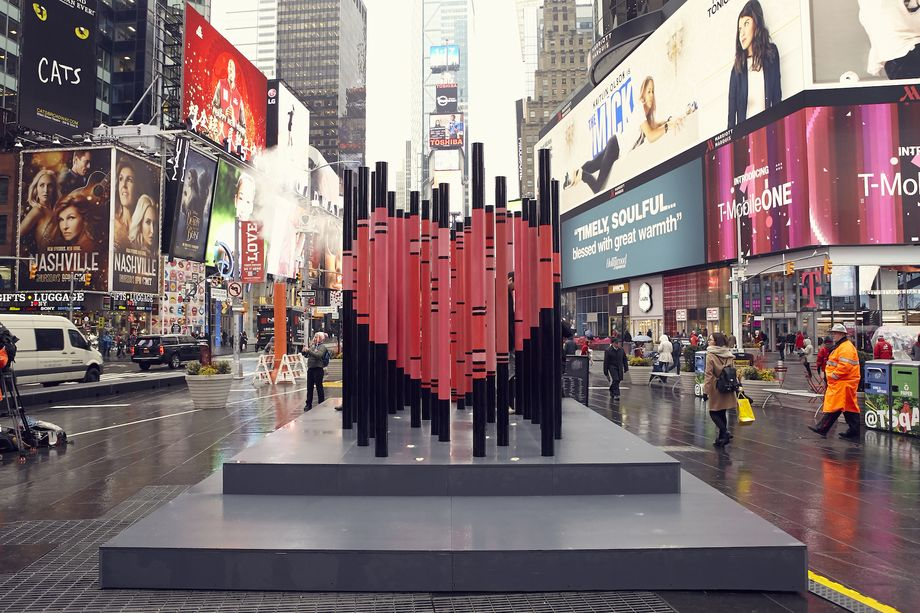 Valentine's Day in Times Square honors Immigrants