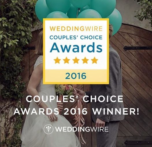 We Won the Wedding Wire Couple's Choice Award 2016!!