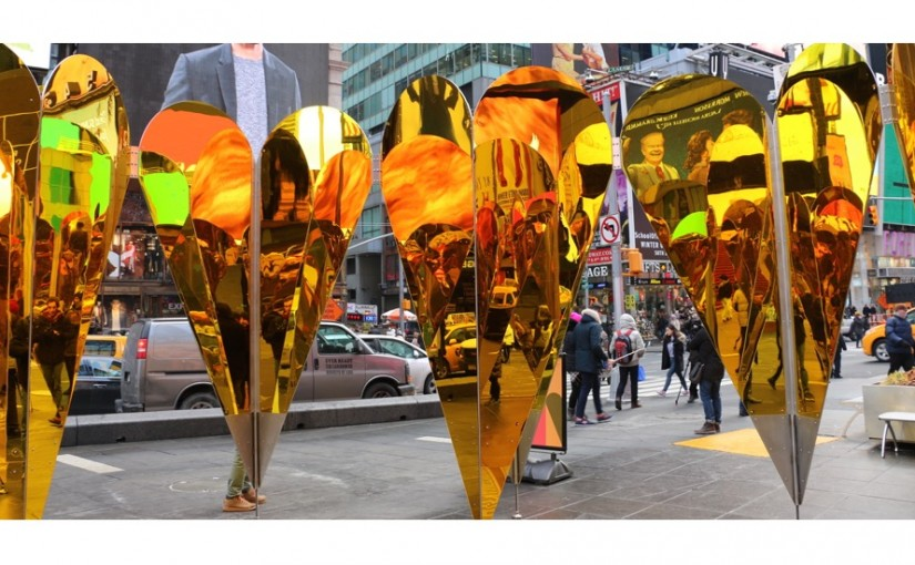 new york city valentine's day art display in times square | new, Ideas