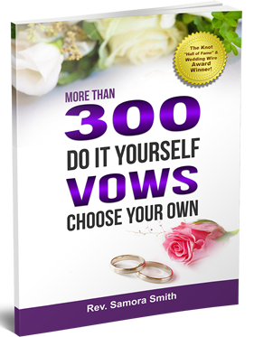 New Book Launch:  300 Do It Yourself Vows-Choose Your Own